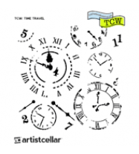 Stencils - Mini Time Travel