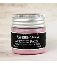 Prima - Art Alchemy Acrylic Paint - Metallic Vintage Rose