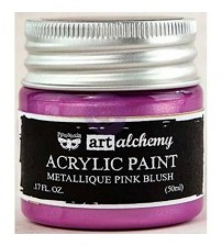 Prima - Art Alchemy Acrylic Paint - Metallic Pink Blush