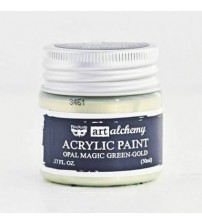 Prima - Art Alchemy Acrylic Paint - Opal Magic Green Gold