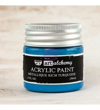 Prima - Art Alchemy Acrylic Paint - Metallic Rich Turquiose