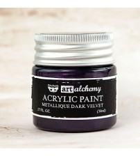 Prima - Art Alchemy Acrylic Paint - Metallic Dark Velvet