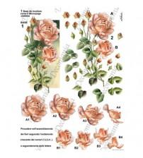 Decomania 3D Paper - Red Rose - Cod.3D007