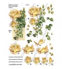 Decomania 3D Paper - Yellow Rose - Cod.3D008