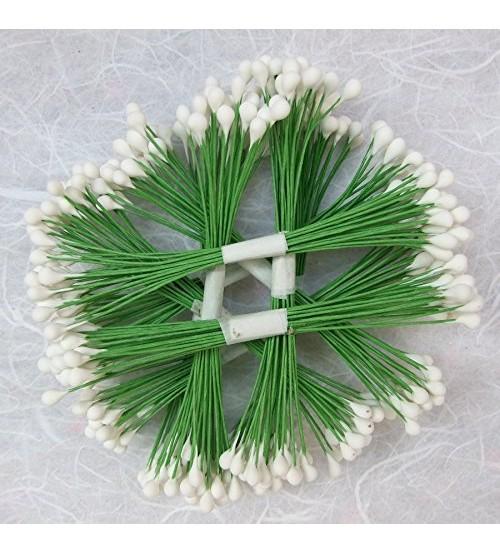 Wire Pollens - Round - White