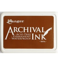 Ink-Archival Ink Pads - Sepia