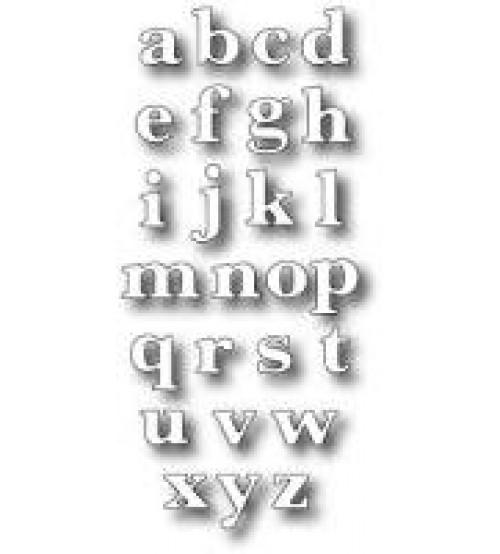 Die-Classic Lower Alphabet