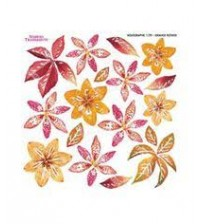 Sospeso Holographic Sheets - Orange Flower