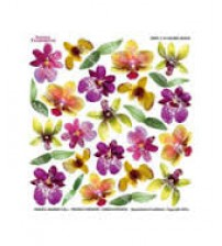 Sospeso Printed Plastic Sheet - Colored Orchid